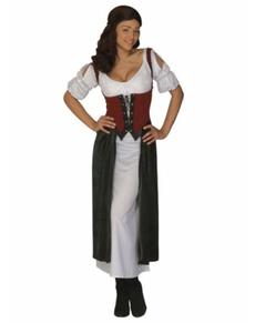 Kostium średniowieczna dziewczyna z tawerny