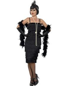 Kostium pani w czarnym lata 20. damski